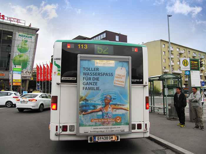 Advertising on buses in Austria | Sms Marketing d.o.o. | Advertising on the Austrian market - Terme 3000