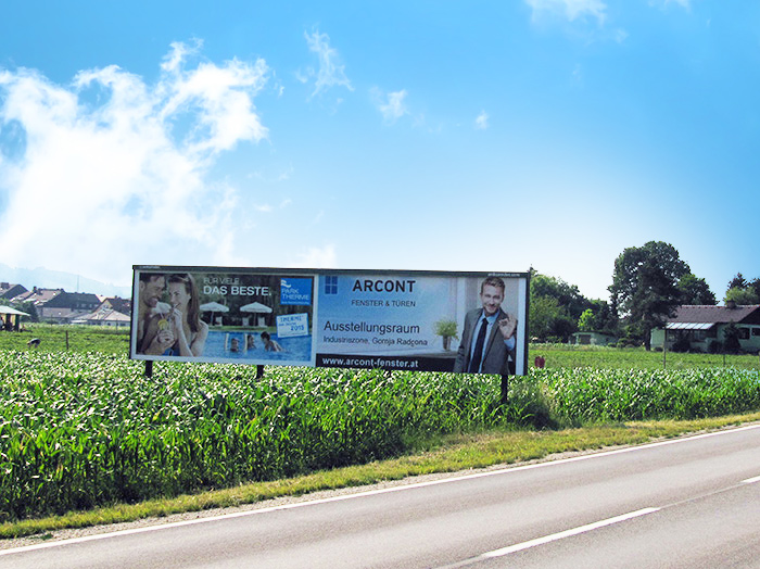 Advertising on jumbo posters and billboards | Sms Marketing d.o.o. | advertisement on the Austrian market - Arcont