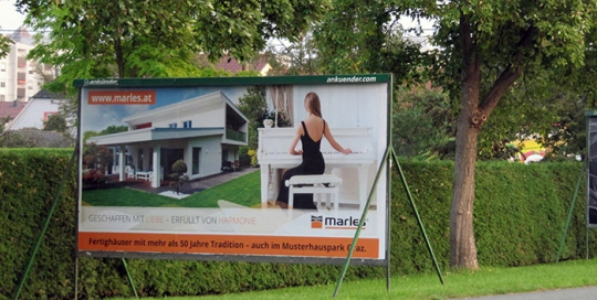 Advertising on jumbo posters and billboards | Sms Marketing d.o.o. | advertisement on the Austrian market - Marles