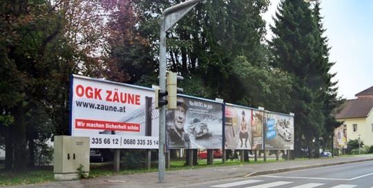 Advertising on jumbo posters and billboards | Sms Marketing d.o.o. | advertisement on the Austrian market - Ograje Kocevar