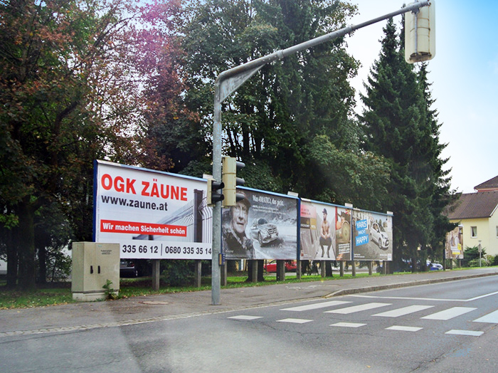 Advertising on jumbo posters and billboards | Sms Marketing d.o.o. | advertisement on the Austrian market - Ograje Kocevar