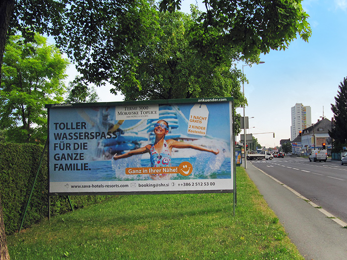 Advertising on jumbo posters and billboards | Sms Marketing d.o.o. | advertisement on the Austrian market - Terme 3000