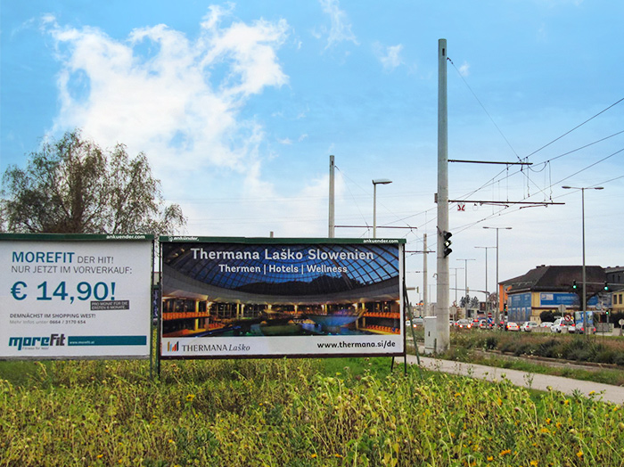 Advertising on jumbo posters and billboards | Sms Marketing d.o.o. | advertisement on the Austrian market - Thermana Lasko