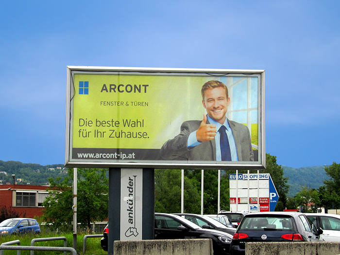 Advertising on lit jumbo posters | Sms Marketing d.o.o. | Advertisement on the Austrian market - Arcont