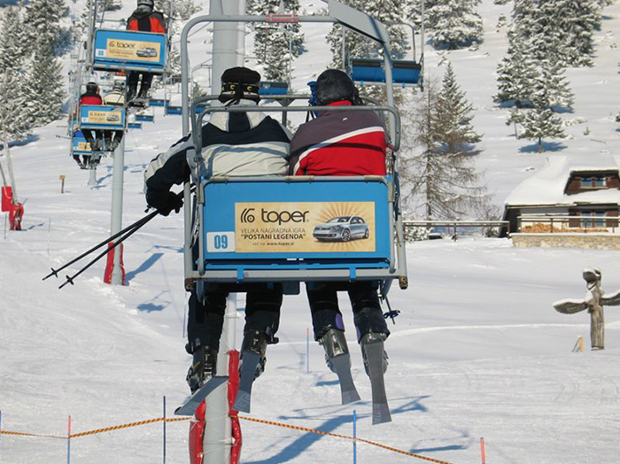 Advertising at ski resorts | Sms Marketing d.o.o. | Advertisements on cable cars - Toper