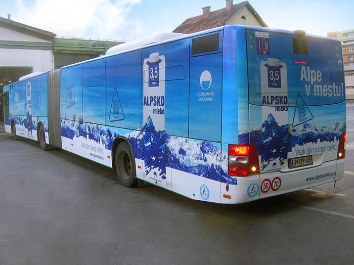 Werben auf Bussen | Sms Marketing d.o.o. | Werbung am Bus - Ganzgestaltung – Ljubljanske mlekarne