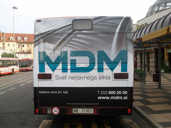 Werbung an Bussen | Sms Marketing d.o.o. | Werbung am hinteren Teil des Busses – MDM
