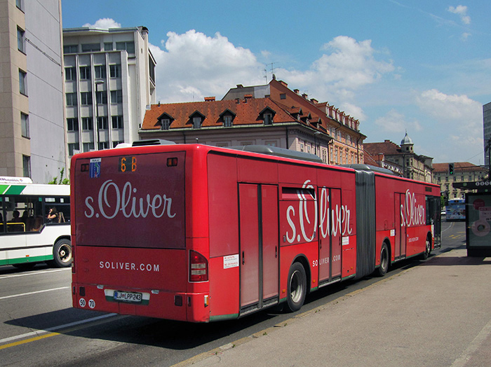 Advertising on buses in Slovenia | Sms Marketing d.o.o. | advertisement on a bus - entire bus - S.Oliver