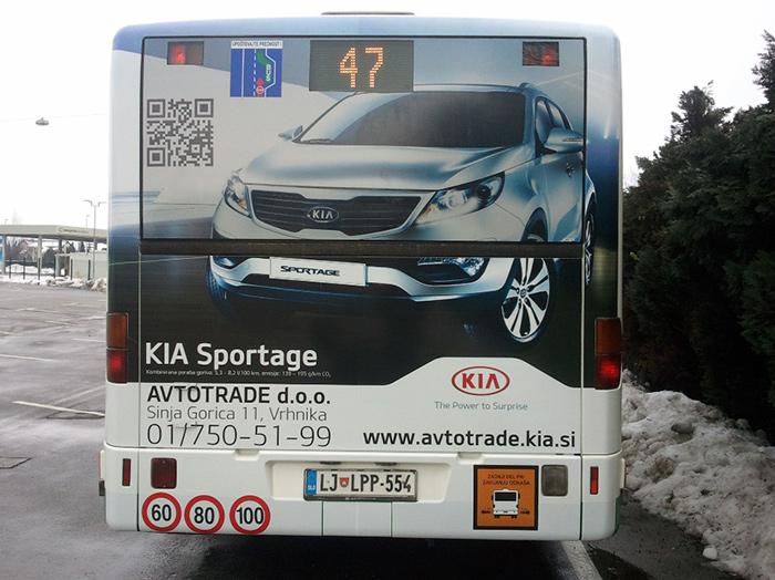 Oglaševanje na avtobusih | Sms Marketing d.o.o. | Oglas na zadnjem delu avtobusa - Avtotrade