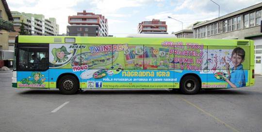 Oglaševanje na avtobusih   Sms Marketing d.o.o.   Oglas na avtobusu - celi avtobus - Eurocom