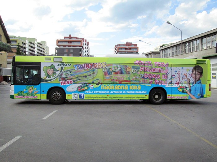 Advertising on buses in Slovenia | Sms Marketing d.o.o. | advertisement on a bus - entire bus - Eurocom