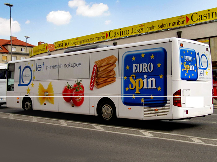 Werben auf Bussen | Sms Marketing d.o.o. | Werbung am Bus - Ganzgestaltung – Eurospin