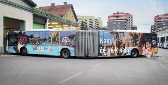 Oglaševanje na avtobusih   Sms Marketing d.o.o.   Oglas na avtobusu - celi avtobus - Terme Olimia