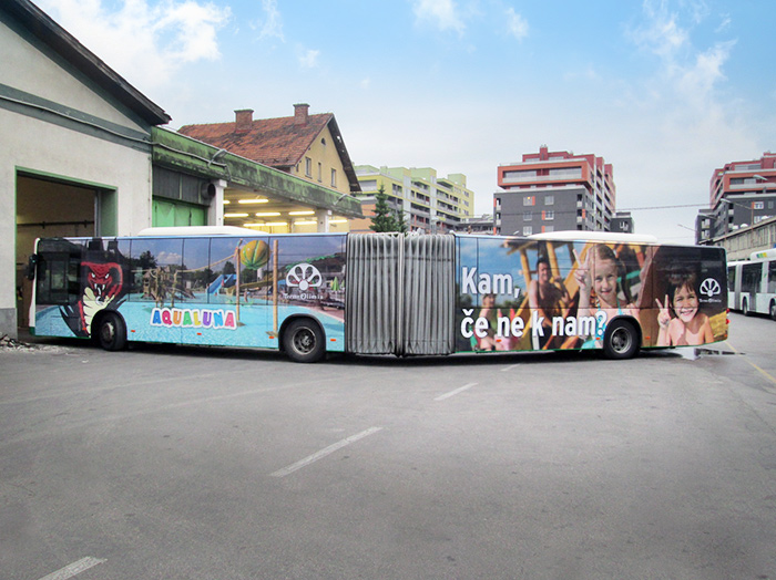 Advertising on buses in Slovenia | Sms Marketing d.o.o. | advertisement on a bus - entire bus - Terme Olimia