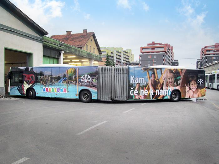 Werben auf Bussen | Sms Marketing d.o.o. | Werbung am Bus - Ganzgestaltung – Terme Olimia