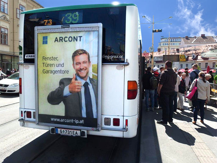 Advertising on buses in Austria | Sms Marketing d.o.o. | Advertising on the Austrian market - Arcont