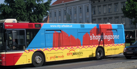 Advertising on buses in Austria | Sms Marketing d.o.o. | Advertising on the Austrian market - City Arkaden