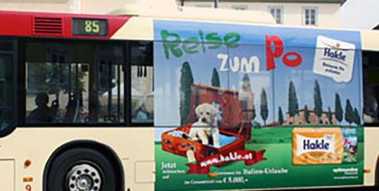 Oglaševanje na avtobusih | Sms Marketing d.o.o. | Oglas na avstrijskem trgu - Hakle