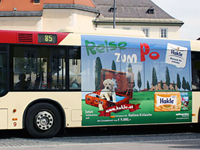 Advertising on buses in Austria | Sms Marketing d.o.o. | Advertising on the Austrian market - Hakle