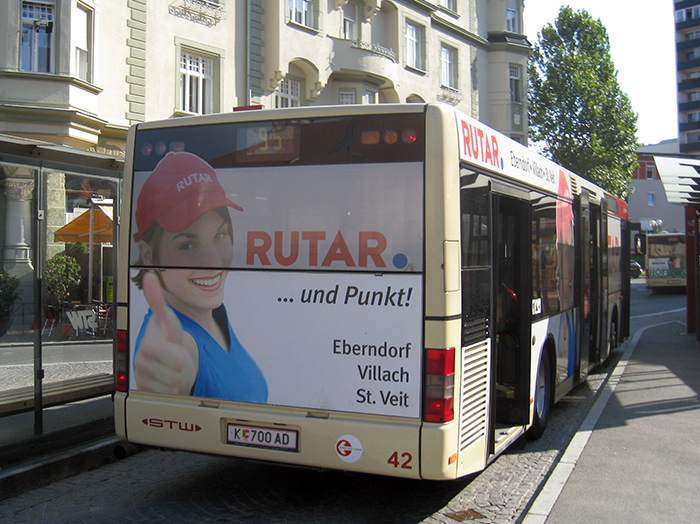 Advertising on buses in Austria | Sms Marketing d.o.o. | Advertising on the Austrian market - Rutar