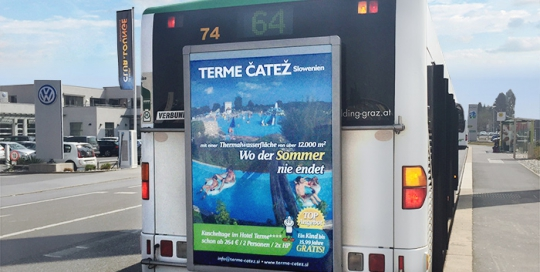Advertising on buses in Austria | Sms Marketing d.o.o. | Advertising on the Austrian market - Terme Čatež