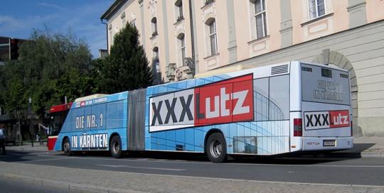 Oglaševanje na avtobusih | Sms Marketing d.o.o. | Oglas na avstrijskem trgu - XXXLutz