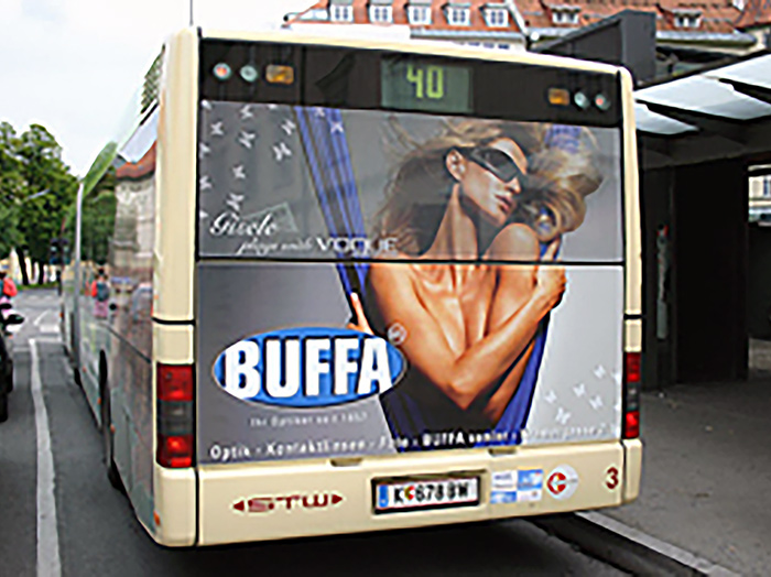 Advertising on buses in Austria | Sms Marketing d.o.o. | Advertising on the Austrian market - Buffa