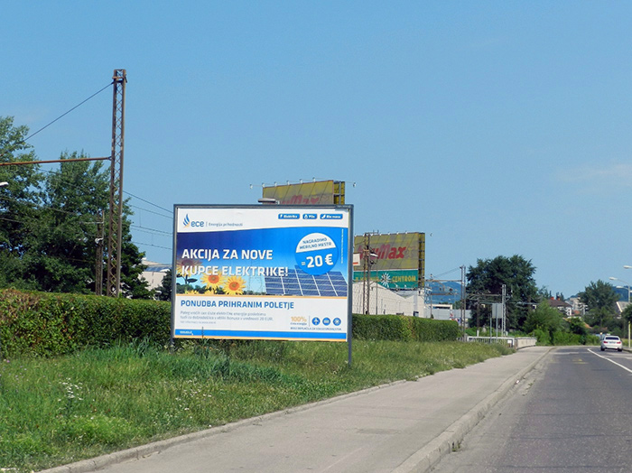 Advertising on outdoor advertising surfaces in Slovenia | Sms Marketing d.o.o. | Advertisement on a billboard - ece