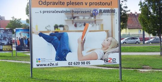 Oglaševanje na zunanjih oglasnih površinah | Sms Marketing d.o.o. | Oglas na jumbo plakatu - e2e