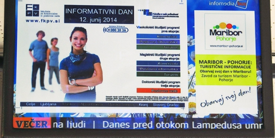 Referenzen der Werbung am Bus | Sms Marketing d.o.o. | digitale LCD Werbung