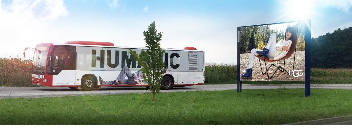 Oglaševanje na avtobusih in jumbo plakatih| Sms Marketing d.o.o. | Oglas na reklamnem panoju in avtobusu