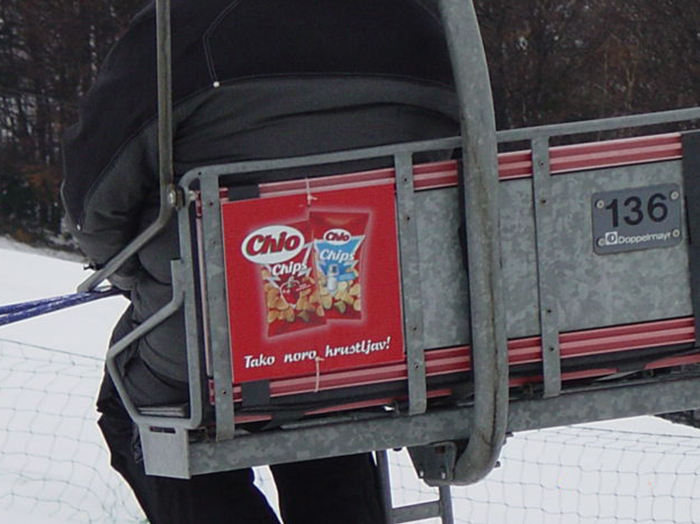 Advertising at ski resorts | Sms Marketing d.o.o. | Advertisements on cable cars - Chio