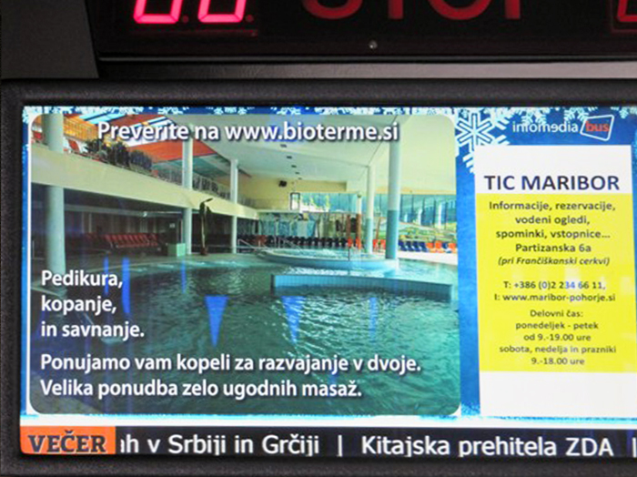 Advertising in the interior of buses | Sms Marketing d.o.o. | Digital LCD advertisement