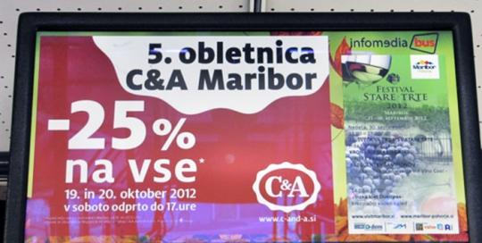 Oglaševanje v notranjosti avtobusa | Sms Marketing d.o.o. | Digitalni LCD oglas
